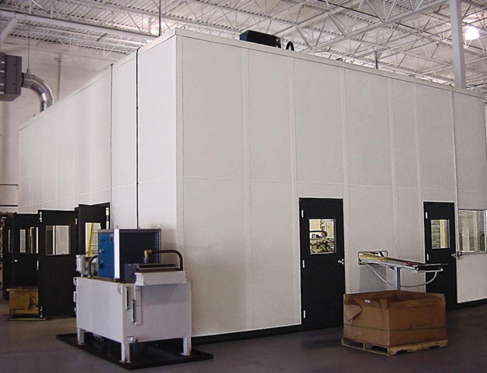 Protective InPlant Tall Walls Enclose Equipment